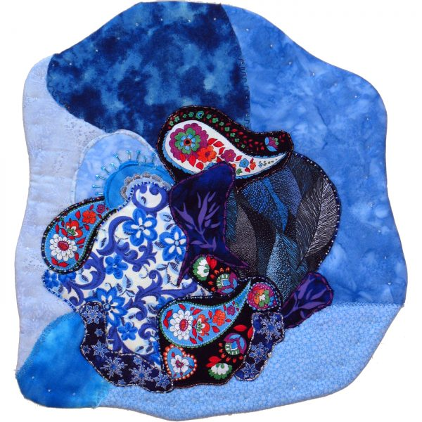 Floral Blue collage