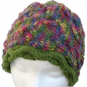 Purple and Green Hat