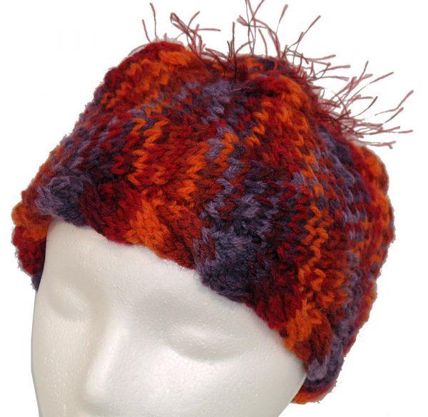 Red/Orange/Purple Knit Hat