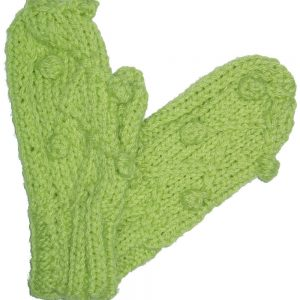 Spring Green Knit Mittens