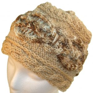 Brown Hat with multi-brown cable